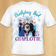 frozen birthday t shirt transfer personalized custom frozen