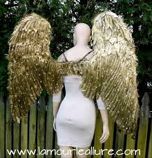 halloween angel wings extra large rhinestone gold angel wings cosplay dance costume rave