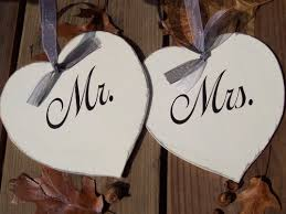 mr and mrs sign for wedding mr and mrs whimsical wedding chair heart wood vinyl signs