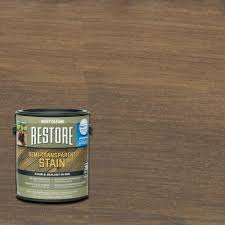 rust oleum restore 1 gal semi transparent stain autumn brown with