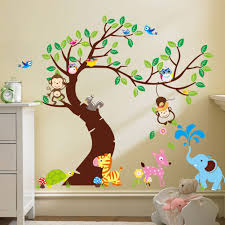 monkeys hanging over a colourful tree wall sticker zoo yoo monkeys hanging over a colourful tree wall sticker 5