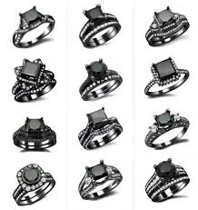 black wedding rings wedding rings black diamond wedding ring illustrious design your