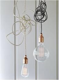 Copper Light Pendants Twisted Flex Copper Pendant Light Set Pendant Lighting
