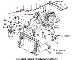 98 camaro radiator 4th lt1 f tech aids drawings exploded views