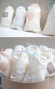 muslin favor bags how to easily make diy sted muslin bags