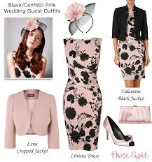 pink and black mother of the bride and wedding guest new in