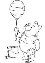 balloon coloring pages winnie the pooh with easter balloon coloring page free printable