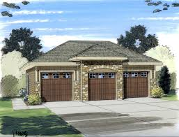 3 bay garage home plans