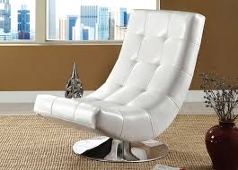 Swivel Armchairs For Living Room Living Room Excellent Black And White Leather Swivel Chair Living