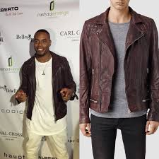 mens leather biker jacket style nfl rashad jennings u0027 all saints conroy leather biker jacket