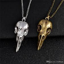 silver skull pendant necklace images Wholesale nordic viking raven skull pendant necklace bronze silver jpg