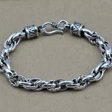 solid sterling silver mens bracelet images Vintage twisted rope 925 sterling silver men bracelet 117 44 for sale jpg
