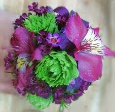 purple corsage purple pop corsage blue iris
