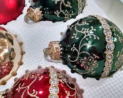 set if 3 krebs glass ornaments