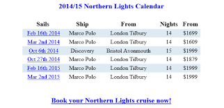 northern lights cruises from discounted tropical sails