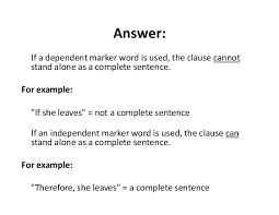 english independent and dependent clauses