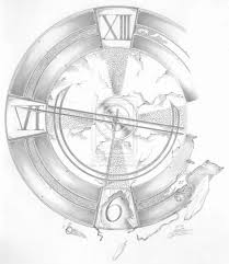broken clock tattoo sketch real photo pictures images and
