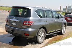 nissan patrol 2016 platinum interior nissan patrol rear three quarter right from its preview in india