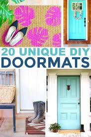 20 unique diy doormats frugal mom eh