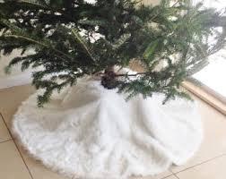 lovely ideas white tree skirt faux fur etsy