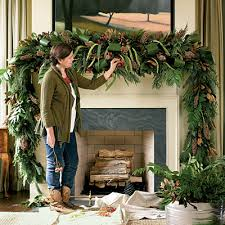 How To Decorate A Swag For Christmas Dressed Up Christmas Mantels Firemasters