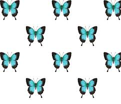 ulysses butterfly simple repeat on white fabric by