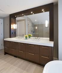 Bathroom Vanity Mirror With Lights Bathroom Design For Large Space With Light Wooden Floor