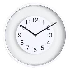 Horloge Murale Ronde Blanche Avec Horloge Murale Ronde Blanche Cadran Transparent D30cm Achat