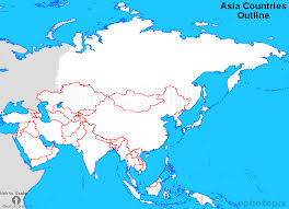map of countries of asia blank map of asian countries major tourist attractions maps