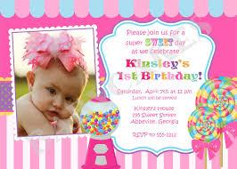 Unique Birthday Invitation Cards Candyland Birthday Invitations Kawaiitheo Com