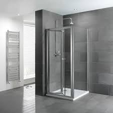 Shower Bifold Door Volente Bifold Door Silver Shower Enclosure Buy At Bathroom