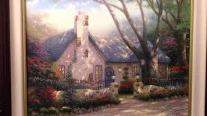 Thomas Kinkade Clocktower Cottage by Thomas Kinkade Painting Morning Glory Cottage Thomas Kincade For