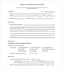 registration form template doc volunteer application template 15