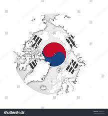 World Map Korea South Korea Flag World Map White Stock Illustration 288881210