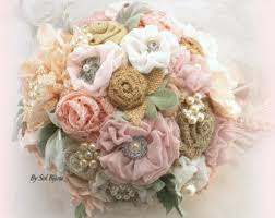 Shabby Chic Wedding Bouquets by Burlap Bouquet Etsy