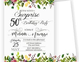 50th invitation etsy