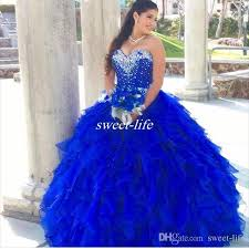 blue quinceanera dresses royal blue 2016 quinceanera dresses cascading ruffles gown