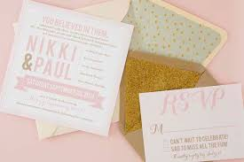 blush and gold wedding invitations modern blush pink gold wedding invitations