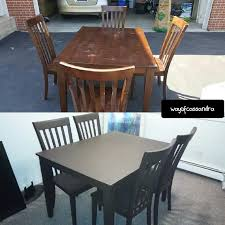 Spray Painting My Dining Room Table YouTube - Painting a dining room table