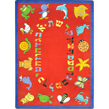 Kid Rug by Rugs Abc Animals Hebrew Alphabet Joy Carpets