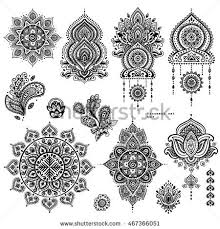 vector images illustrations and cliparts indian floral set