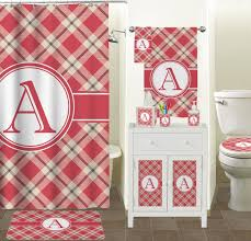 red tan plaid shower curtain personalized potty training red tan plaid shower curtain personalized