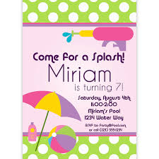 Invitation Card For Pool Party Miraculous Pool Party Engagement Invitations Features Party Dress