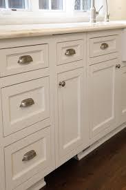custom white kitchen cabinets with brushed nickel hardware