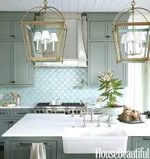 blue kitchen tiles ideas blue kitchen tiles with white cabinets fish scale tile design