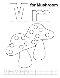 free alphabet coloring pages m for mushroom alphabet coloring