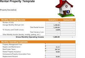 rental management template property management spreadsheet excel