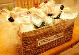 bridal shower wine basket a girl s guilty pleasures diy bridal shower wine poems