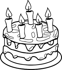 unique birthday cake coloring page 37 with additional coloring