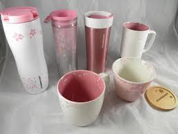 sakura mug starbucks cherry blossom japan pink cup new white